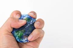 Menschlicher Schaden die Erde Stockfotografie