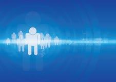 Menschlicher Technologiehintergrund Stockfotos