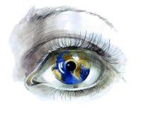 Menschliches Auge stock abbildung