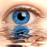 Menschliches Auge Lizenzfreie Stockfotos