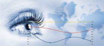 Menschliches Auge. lizenzfreie stockfotos