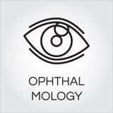 Menschliches Auge in der Entwurfsart Augenheilkunde- und Gesundheitswesenkonzept Stockbilder