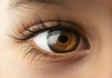 Menschliches Auge des Kindes lizenzfreie stockbilder