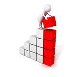 menschliches Erfolgsgeschäfts-Balkendiagrammdiagramm der Gestalt 3d Lizenzfreie Stockfotografie