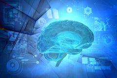 menschliches Gehirn 3D Stockfotos