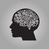 Menschliches Gehirn mit Gängen Vektor für Ihr Design Lizenzfreie Abbildung