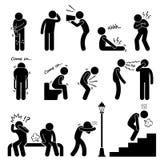 Menschliches Krankheits-Krankheits-Krankheits-Symptom-Syndrom Stockfotos