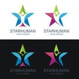 Menschliches Logo, mit dem Sterndesign lizenzfreie abbildung