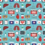 Menschliches Organ für das nahtlose Design der Versetzung flach Stockbilder