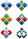 Menschliches quadratisches Zeichen Stockfotografie