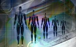 Menselijk stock illustratie