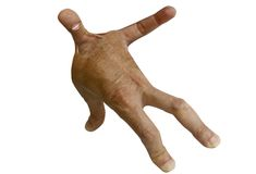 Menselijk die cijfer met vingers wordt gemaakt Stock Afbeelding
