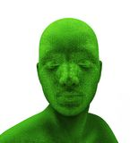 Menselijk groen hoofd stock illustratie