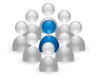 Menselijk groepspictogram Stock Afbeelding