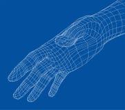 Menselijk hand draad-kader Vector stock illustratie