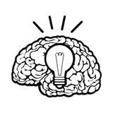 Menselijk hersenenteken Stock Afbeelding