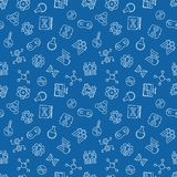 Menselijk het Klonen vectoroverzichts naadloos patroon vector illustratie