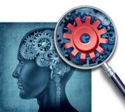 Menselijk intelligentie-Onderzoek royalty-vrije illustratie