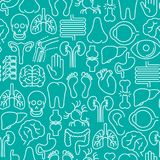Menselijk intern organen naadloos patroon vector illustratie
