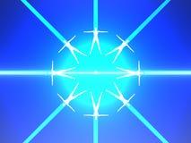 Menselijk lichaam acht in blauwe macht Stock Afbeelding