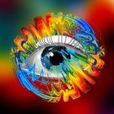 Menselijk oog royalty-vrije illustratie
