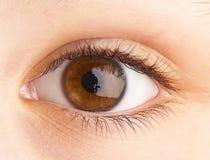 Menselijk oog. het macro ontspruiten Royalty-vrije Stock Foto