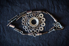 Menselijk oog van de noten en de hulpmiddelen Royalty-vrije Stock Fotografie