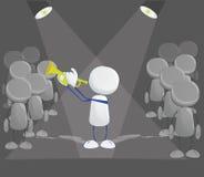 Menselijk pictogram met trompet royalty-vrije illustratie