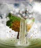 Menselijk verontreinigend milieu, concept vector illustratie