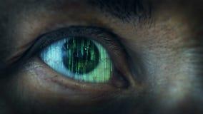 Menselijk wezen futuristische visie stock footage
