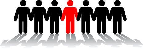 Menselijke cijfers in een rij Stock Fotografie