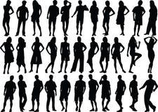 Menselijke cijfers - uitstekende kwaliteit stock illustratie