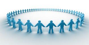 Menselijke cirkel stock illustratie