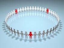 Menselijke Cirkel Royalty-vrije Stock Afbeelding
