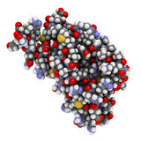 Menselijke eiwit prion (hPrP), chemische structuur. Geassocieerd met Royalty-vrije Stock Foto's