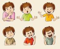Menselijke emoties stock afbeeldingen