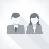 Menselijke gezichten op wit Stock Afbeeldingen
