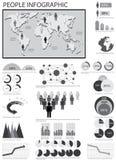 Menselijke grafische info royalty-vrije illustratie