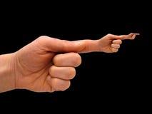 Menselijke hand met hand-vinger po Royalty-vrije Stock Fotografie