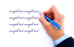 menselijke hand met pen Royalty-vrije Stock Afbeelding
