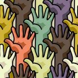 Menselijke handen - naadloos patroon Stock Fotografie