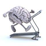 Menselijke hersenen op een lopende machine stock illustratie