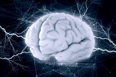 Menselijke hersenenimpuls Stock Foto's