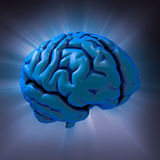 Menselijke hersenensamenvatting stock illustratie