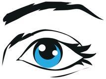Menselijke het oogillustratie van het oogpictogram Royalty-vrije Stock Afbeeldingen