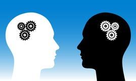 Menselijke hoofden Stock Foto