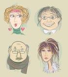 Menselijke hoofden Stock Afbeelding