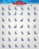 Menselijke hulpbron, de pictogrammen van Businessma n, Blauwe versie Royalty-vrije Stock Foto