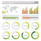 Menselijke infographic vectorillustratie. Royalty-vrije Stock Afbeeldingen