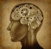 Menselijke intelligentie met grungetextuur Stock Foto